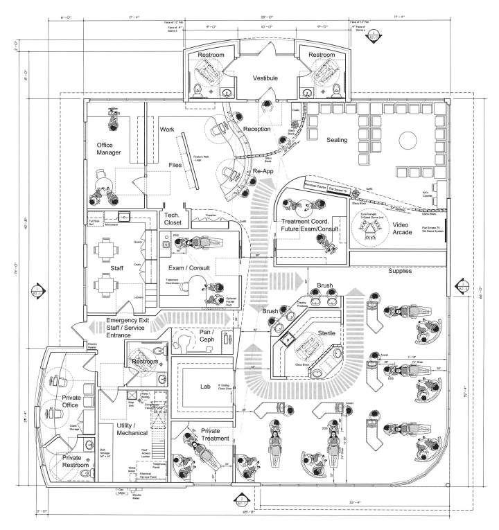 floor plan and patient flow