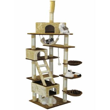 """You'll love the 108"""" Condo House Cat Tree at Wayfair - Great Deals on all Pets  products with Free Shipping on most stuff, even the big stuff."""