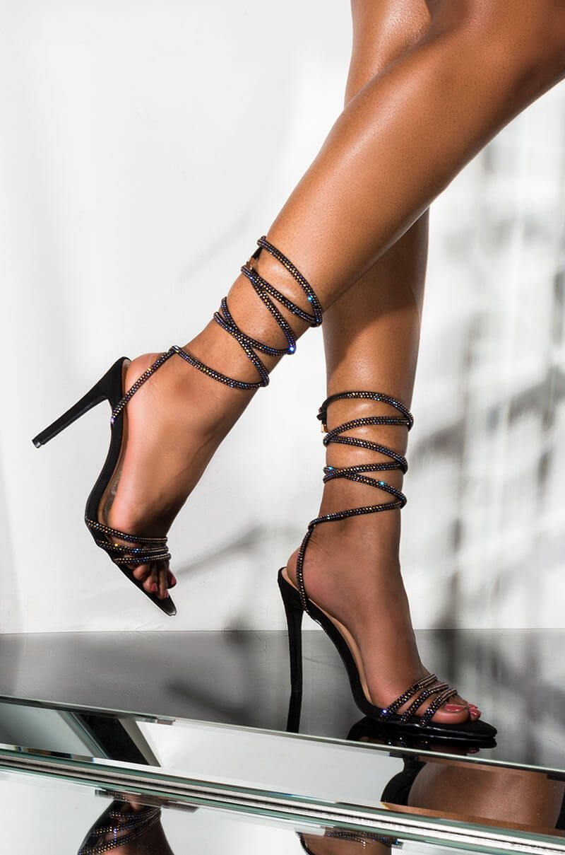 beauty buy online clearance prices AZALEA WANG CHARMED STILETTO HEELED WRAP UP SANDAL | Heels ...