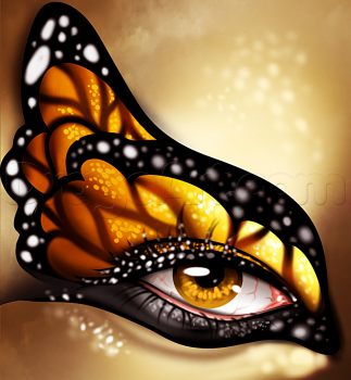how to draw a butterfly eye