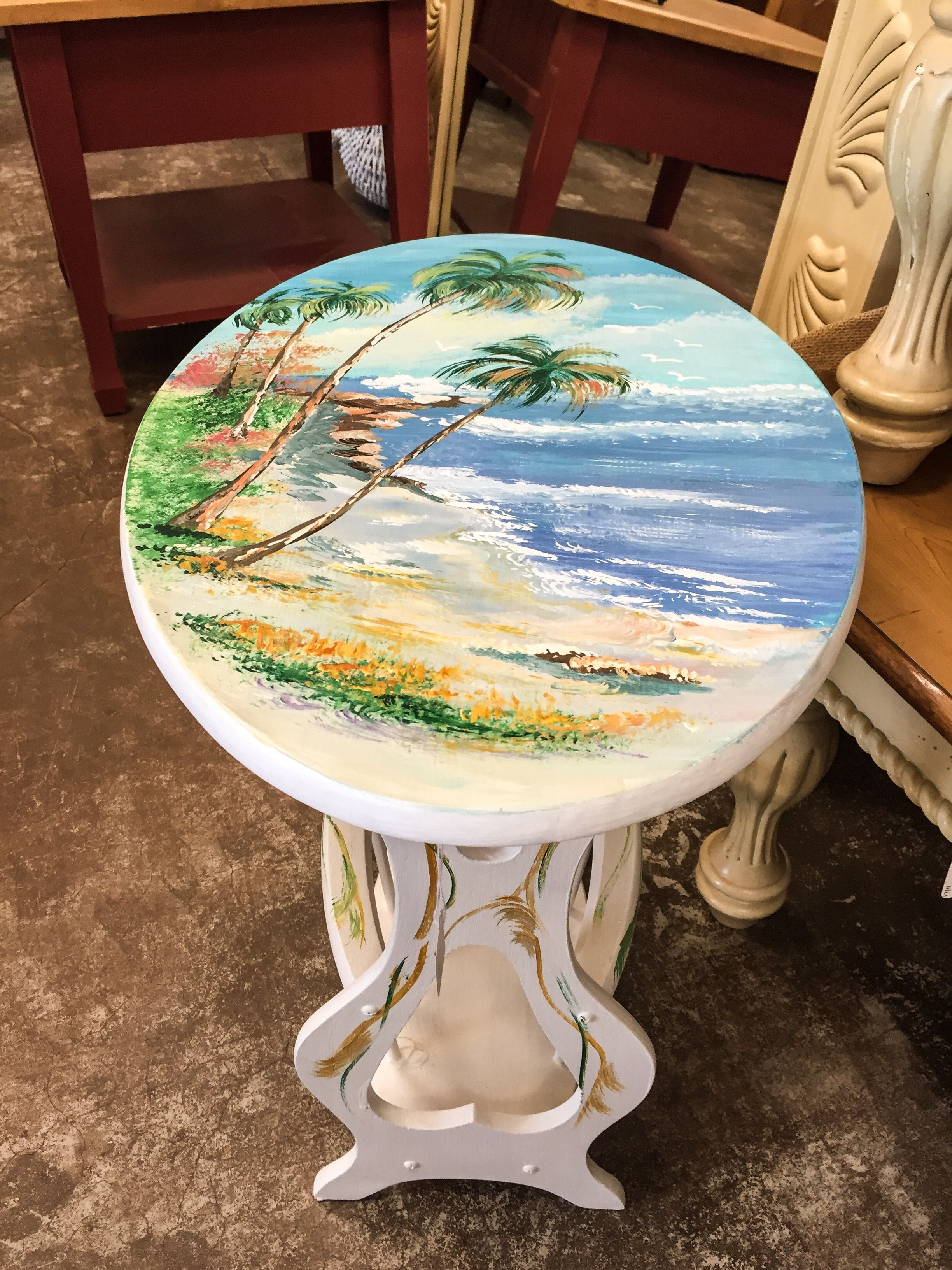 Merveilleux Upcycled Beautiful Hand Painted Table By Joyce Stewart. You Can See More At  The MarketPlace