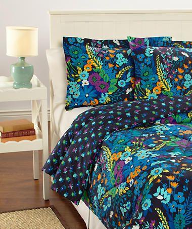 Reversible Comforter Set Fullqueen Vera Bradley Midnight Blues
