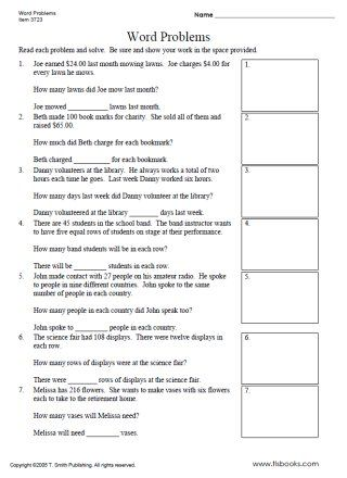 Division Word Problems Division Word Problems Word Problems Word Problem Worksheets