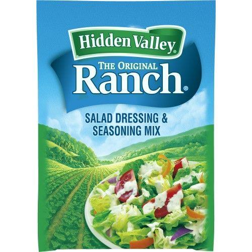 Hidden Valley Ranch Salad Dressing And Seasoning Mix Original 1 0 Oz Seasoning Mixes Ranch Seasoning Ranch Chicken