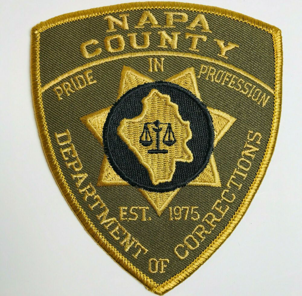 Napa County Department Of Corrections California DOC Patch