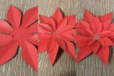 Making a paper poinsettia flower boatremyeaton making a paper poinsettia flower mightylinksfo