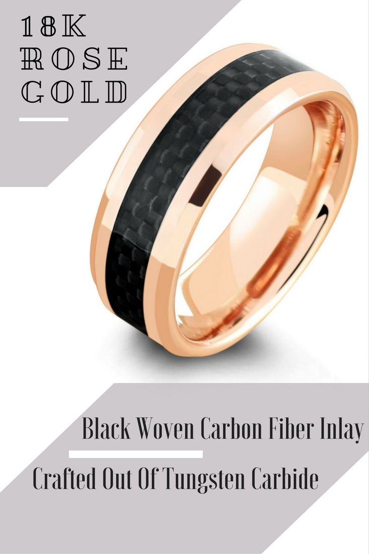 Mens 18k Rose Gold Wedding Ring This Mens Wedding Rings Is
