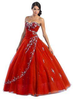 red wedding dresses10