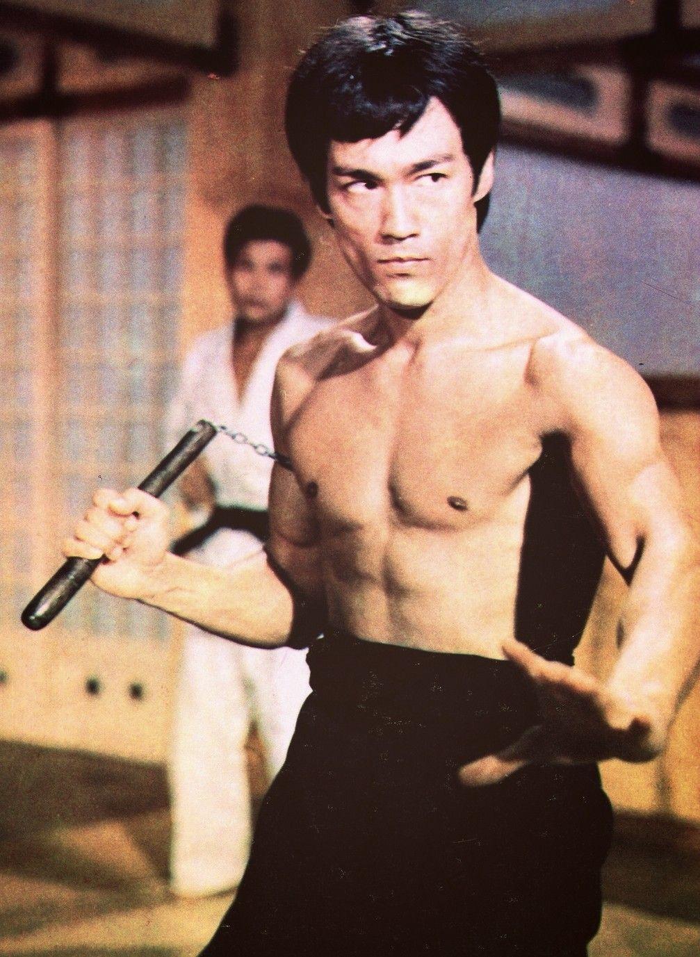 Bruce lee fist of fury color magazine poster cinema