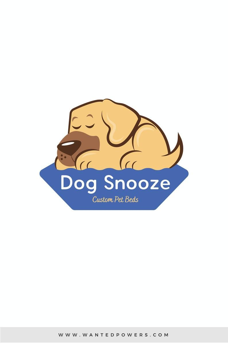 Adorable Sleeping Dog Logo Custom Pre Made Logo Design Pet