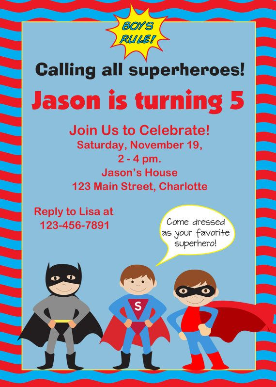 Superhero birthday party invitation super hero batman inspired superhero birthday party invitation super hero batman inspired printable birthday invitation 10 stopboris Image collections