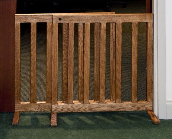 Expandable Gate 28 Inch Tall Oak or Maple Wood 60 Inch Wooden For ...