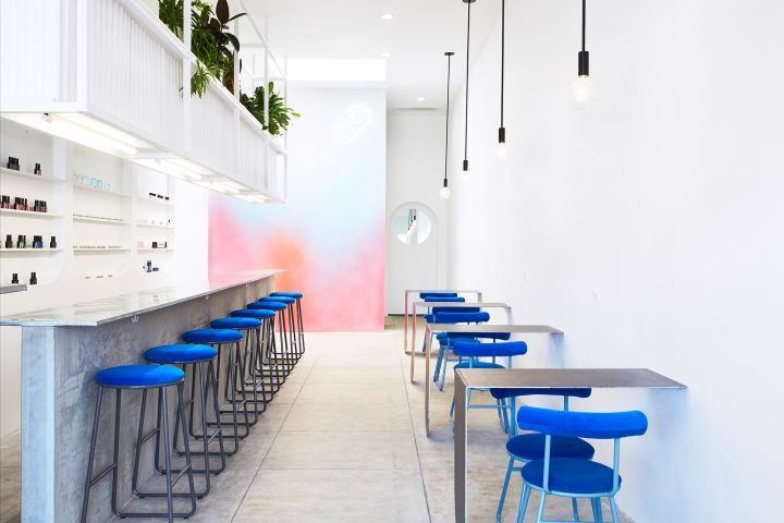 architect j byron h teamed up with branding studio weekday studio to create the interior design concept for color camp - Commercial Interior Design Blog