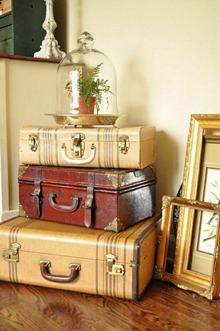 vintage cases becomes original furniture suitcase bag first apartment suitcases trunks mignon