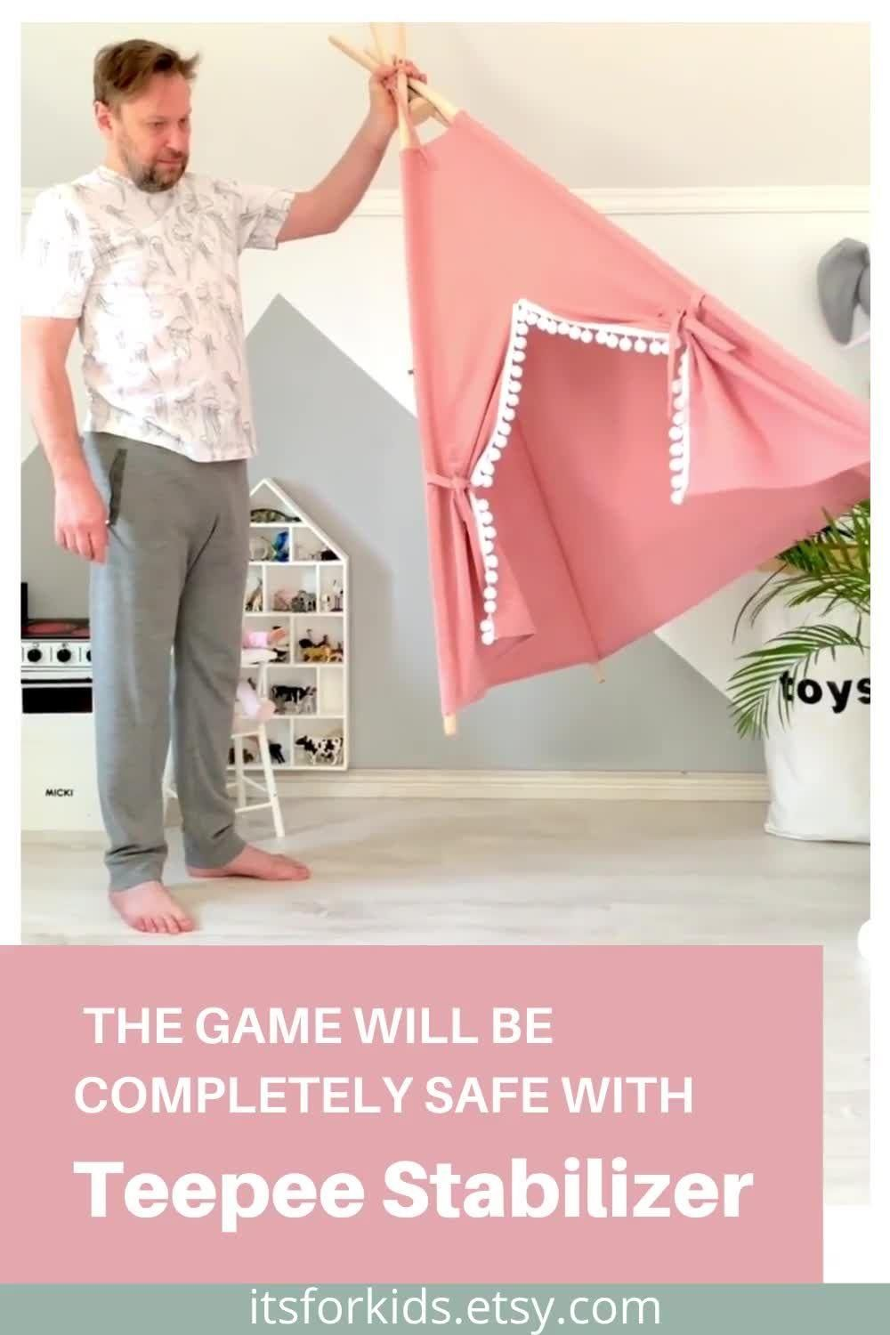 Teepee Stabilizer will make the game completely safe! -   18 diy Dog tent ideas