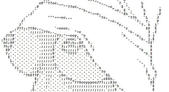 ascii naked girl