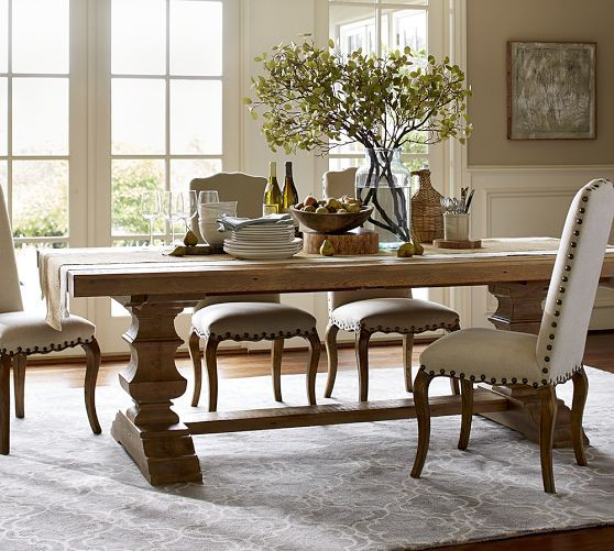 Banks Reclaimed Extending Dining Table  Pottery Barn  American Inspiration Dining Room Tables Pottery Barn Decorating Design