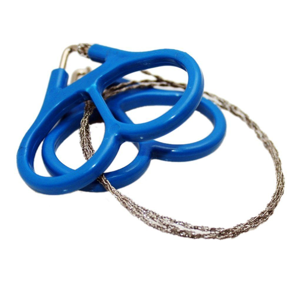 1Pc Stainless steel wire saw outdoor camping emergency survival gear tools new.