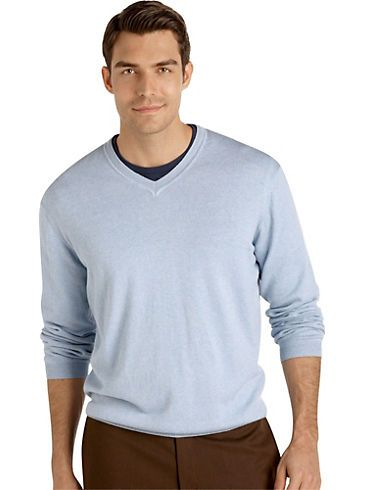 Sweaters & Vests - Pronto Uomo Light Blue V-Neck Sweater - Men's ...