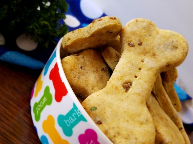 Easy Homemade Chicken And Liver Dog Cookies Recipe Dog Cookies
