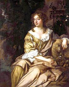 """Eleanor """"Nell"""" Gwynn (February 2 1650 - November 14 1687). Considered the most famous actress of the Restoration period, her rags-to-riches tale has made her a folk heroine. She was a longtime mistress of King Charles II of England."""