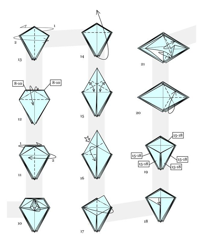 how to make origami christmas decorations step by step