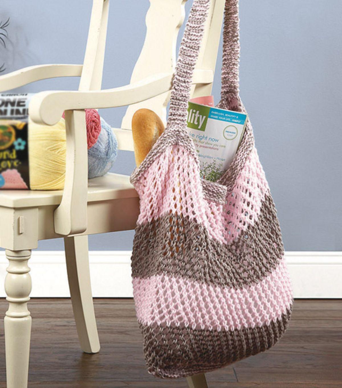 Knitted Market Bag | Knitting | Pinterest | Joann fabrics, Loom ...