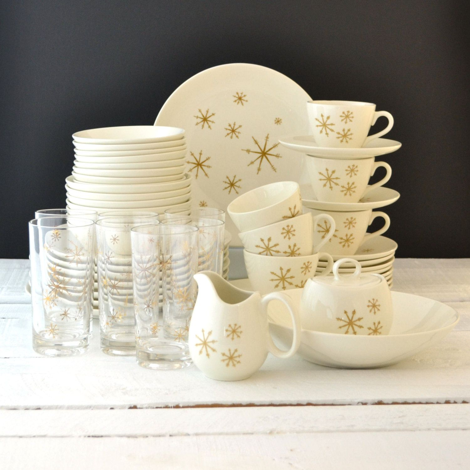 RESERVED Vintage Dinnerware Set - Star Glow Pattern - Royal China . & Contemporary China Star Kitchen Images - Best Kitchen Ideas - i ...