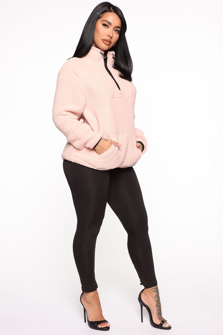 Cozy Feels Sherpa Pullover Pink Sherpa pullover