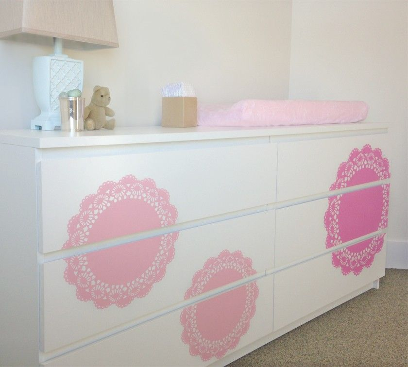 These Doily Decals Are A Great Way To Makeover Furniture We Ve Designed The Set Work Well On Ikea But Other