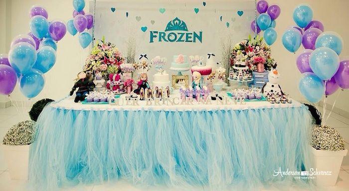 Frozen Birthday Party Com Imagens Ideias De Festa De