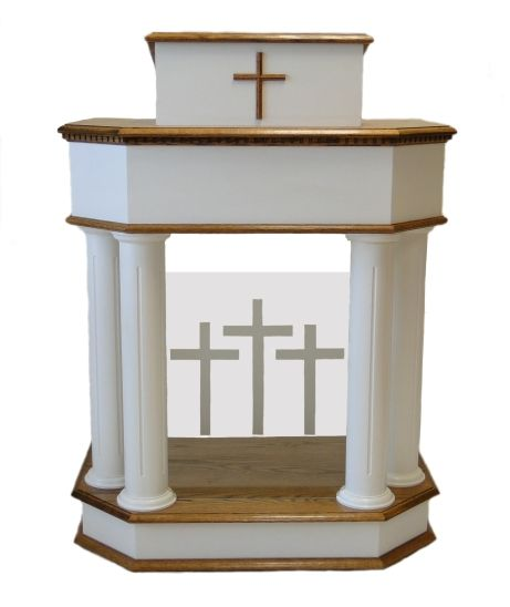 Pulpits 18 D Price 1995 00 Finish All Stained White