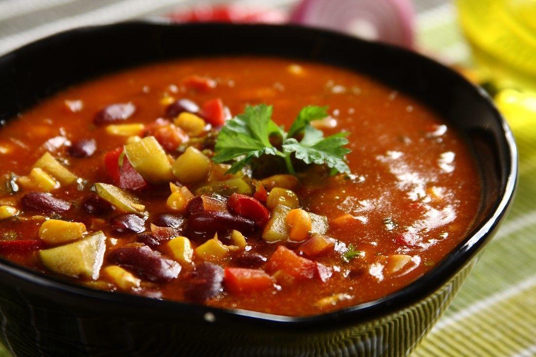 Zupa Meksykanska Z Ogorkiem I Papryka Przepis Zobacz Na Przepisy Pl Recipe Food Soup Chili