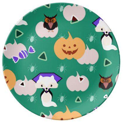 My cute Halloween Plate - halloween decor diy cyo personalize unique