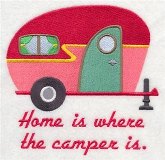 Hand Towel - Luxury White Cotton CAMPER CARAVAN design - pinned by pin4etsy.com