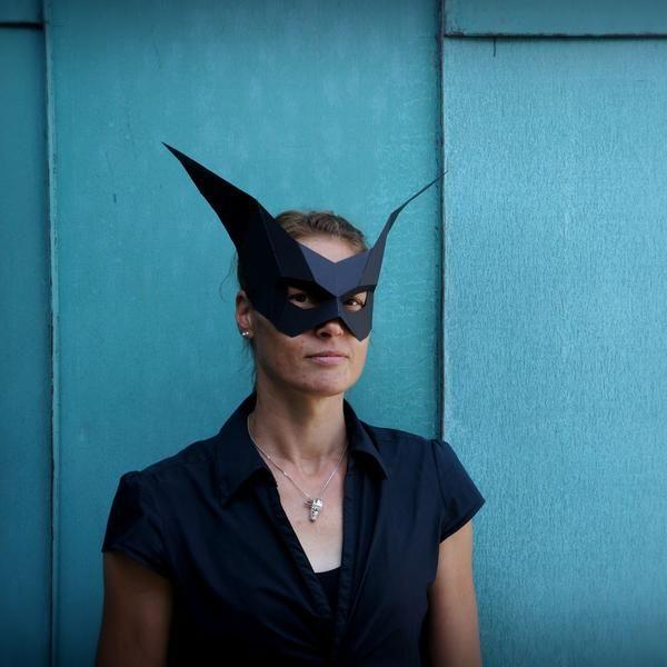 Bat Half Mask - Wintercroft - 1   kids   Pinterest   Half mask