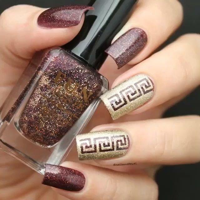 Beautiful Greek Nails By Nailsandtowel Nailsartcentral Nails