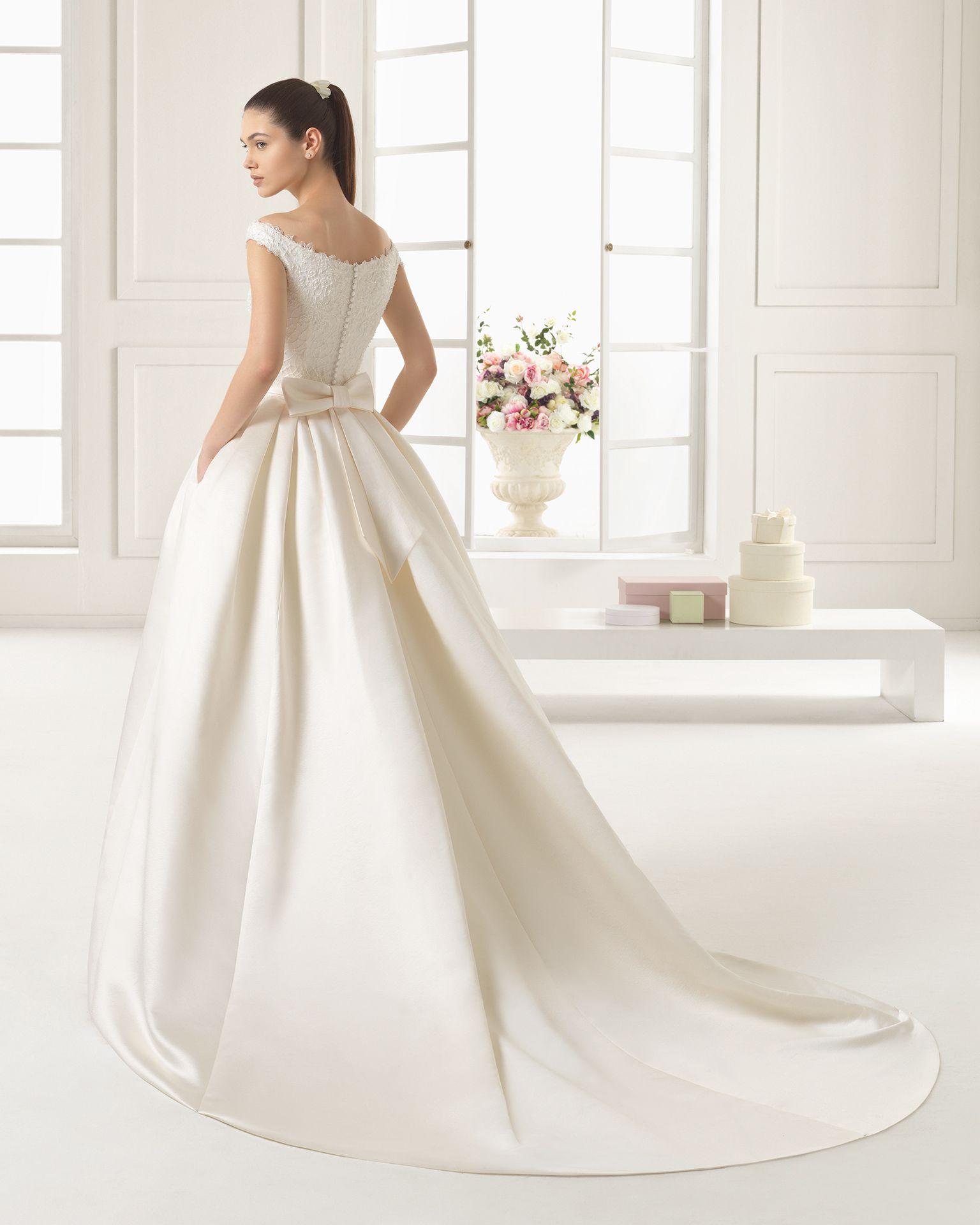 Vestidos de novia y vestidos de fiesta | Vestidos de novia de raso ...