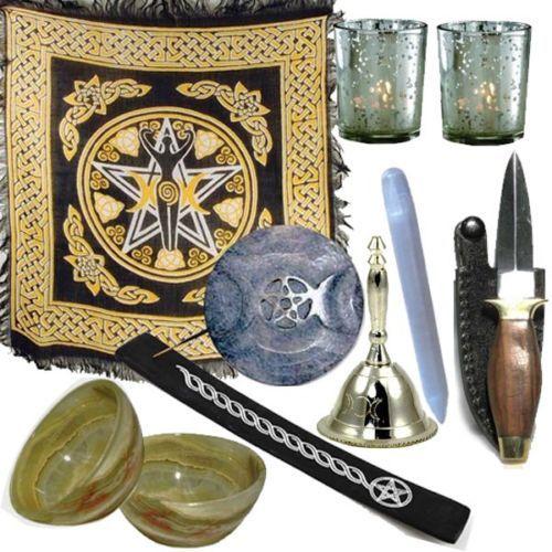Altar-Kit-Beginner-Wiccan-Altar-Kit-Altar-Bell-Pentacle-wiccan-pagan http://stores.ebay.com/Wiccan-Supply?_trksid=p2047675.l2563