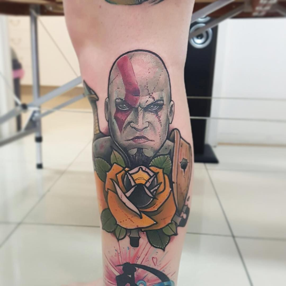 Kratos Godofwar Tattoo By Our Artist Mvttyb Empiretattoosgc