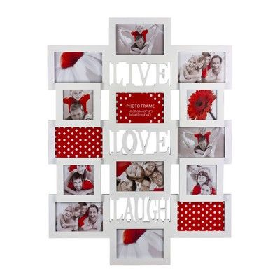 Live Laugh Love Large Collage Frame Valentines Valentines Day