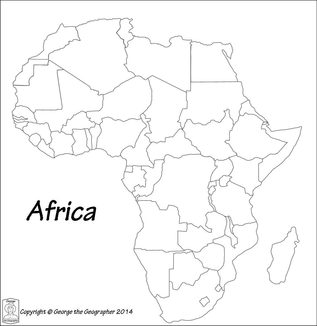 Outline Map Of Africa With Outline Base Maps | africa | Africa map