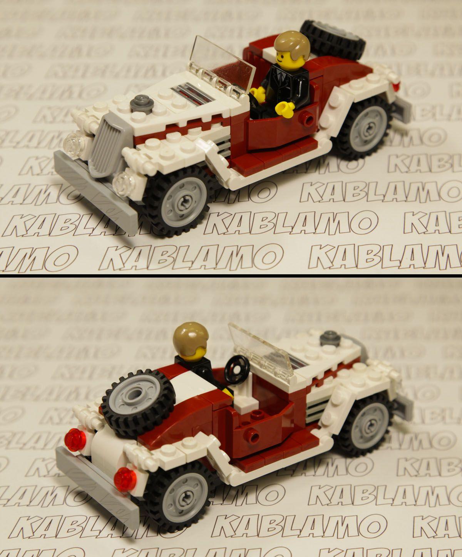 Lego Moc Old Timer Convertible Car For My Modular Street Lego