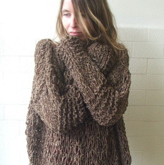 Brown Grunge oversized sweater 2-3 left in this shade | Grunge ...
