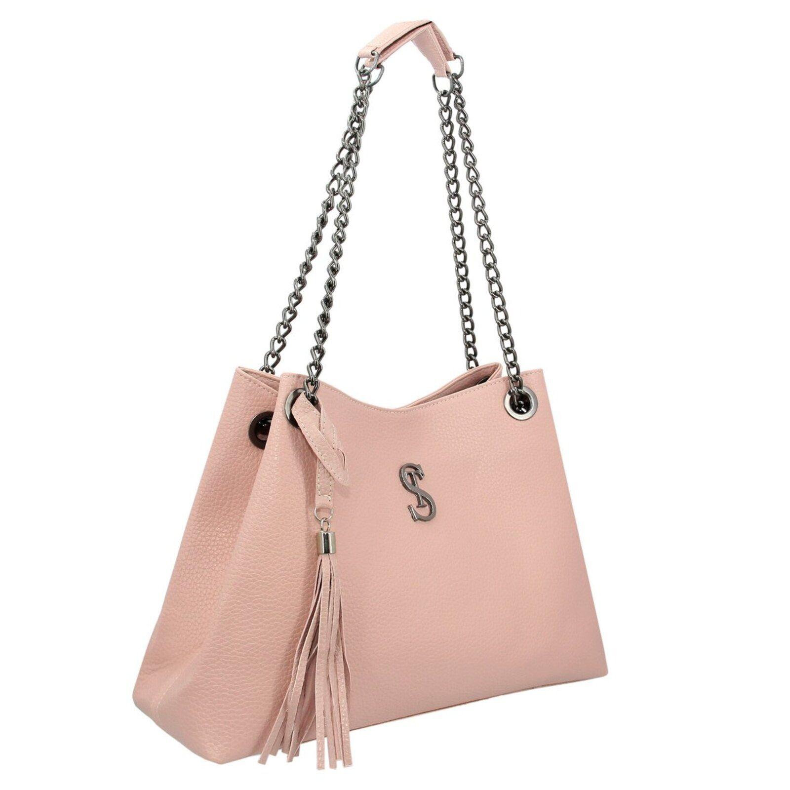 Kit de bolsa de hombro grande con bolsa pequeña Selten rosa