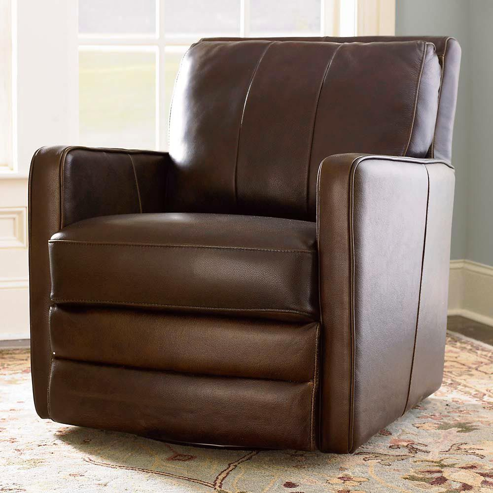 elegant brown leather swivel chair custom home office desk lsb alt with leather electric recliner also electric recliner chairs - Leather Rocker Recliner