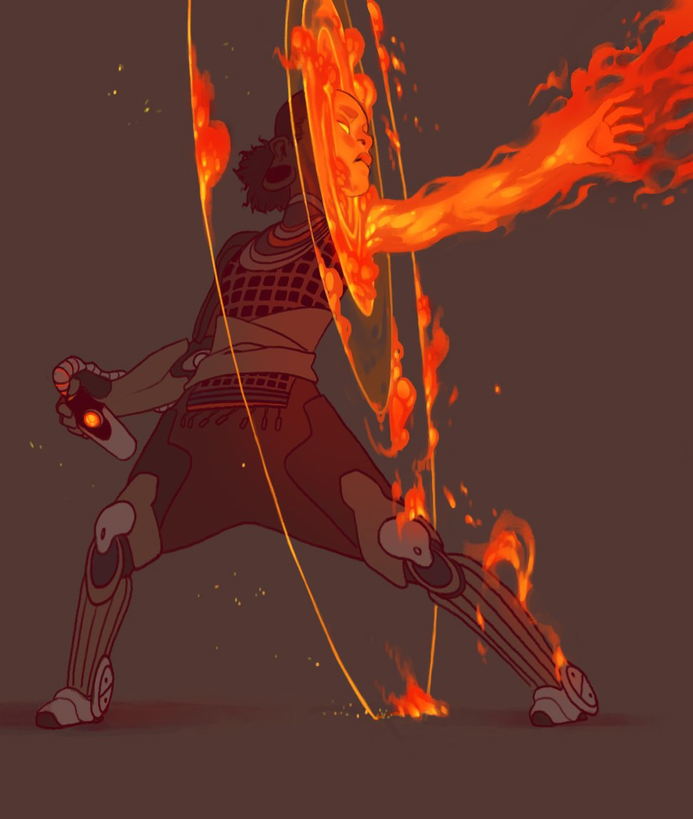 Human, mage, monk, armor, flames, female | Comics and ...Female Fire Elemental