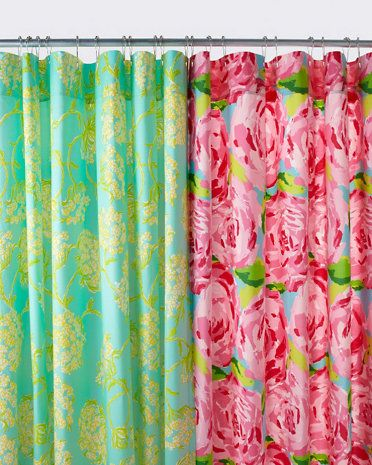 Lilly Pulitzer® Sister Florals Shower Curtain   A Little Obsessed ...