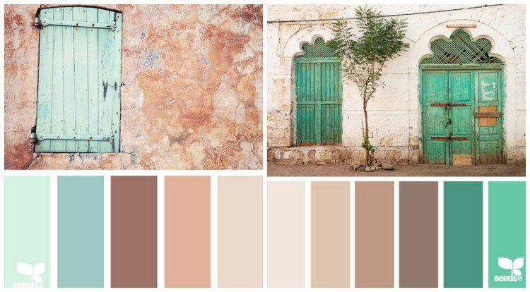 Couleur Pour Cuisine 105 Id Es De Peinture Murale Et Fa Ade Nuances De Vert Abricot Et Nuances