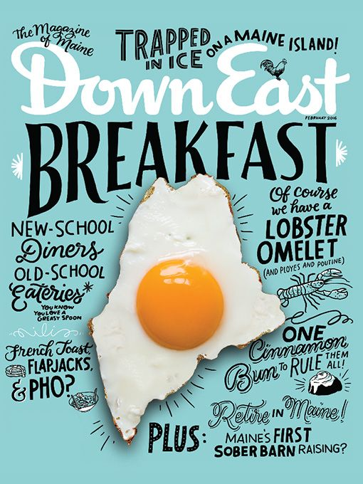 Down East Magazine, February 2016 - Down East Shop #graphicdesign